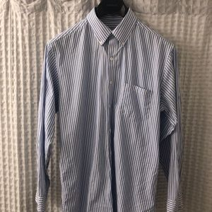 Club Room Fitted Blue/White dress shirt